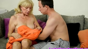 Foreplay caring grandma rides younger weasel words